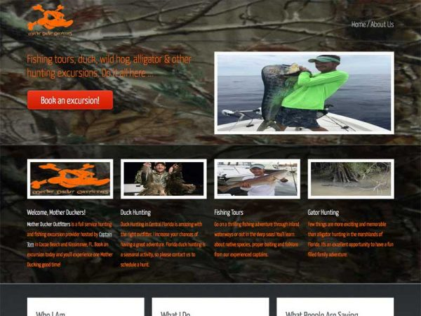 Mother Ducker Outfitters website screenshot