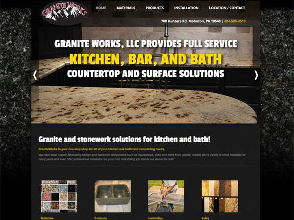 Granite Works website screenshot, November 2014