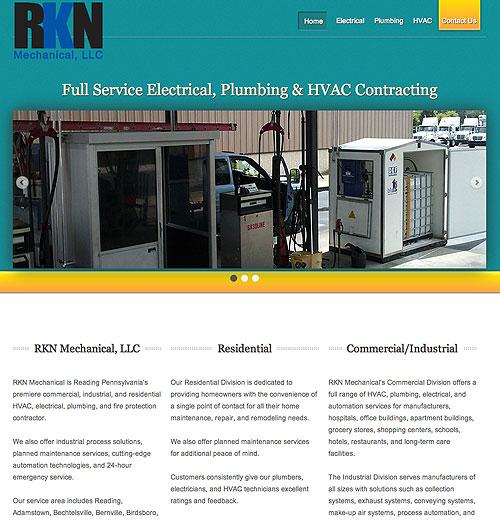 RKN Mechanical website screenshot, June 2012
