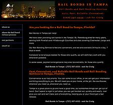 Bail Bonds in Tampa website screenshot