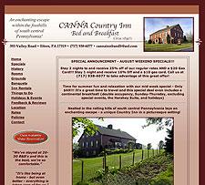 Canna Country Inn website screenshot, August 2007