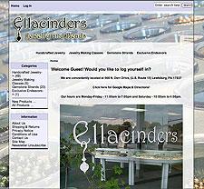 Ellacinders website screenshot, April 2008