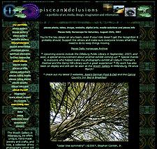 Piscean Delusions website screenshot, 2002