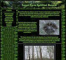 Satori Farm website screenshot, February 2004