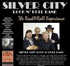 Silver City Rock N' Roll Band website screenshot, August 2007