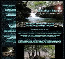 WhiteBear Energies website screenshot, August 2005